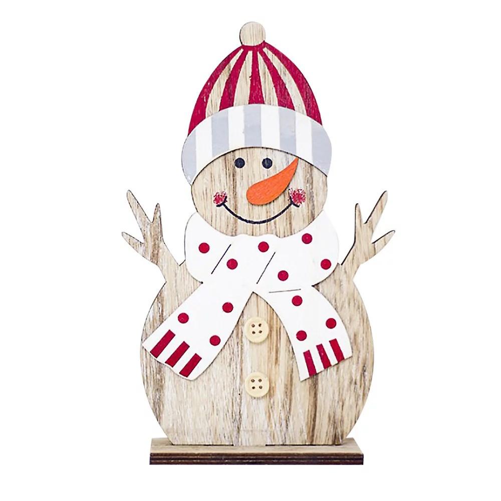 snowman christmas decorations wooden