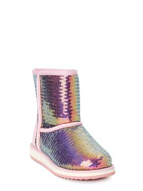 Wonder Nation Cozy Sequin Faux Shearling Boot (Little Girls & Big Girls)