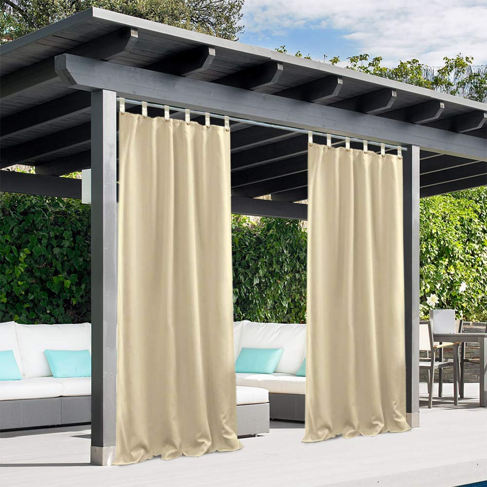 pro space outdoor curtains blackout uv ray protected waterproof curtain 1 panel