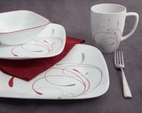Corelle Squares 32-Piece Dinnerware Set, Splendor ...