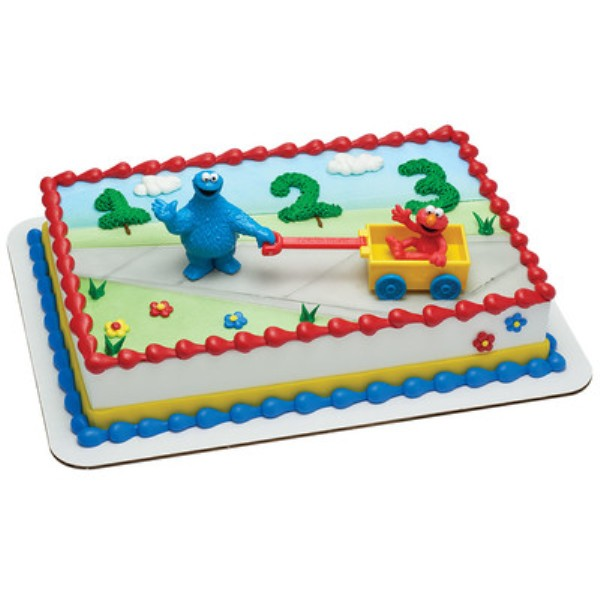 Sesame Street Cookie Monster And Elmo Cake Topper Walmartcom