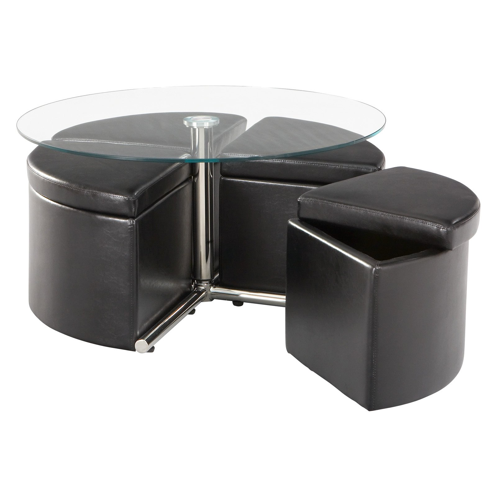 Standard Furniture Cosmo Adjustable Height Round Glass Top
