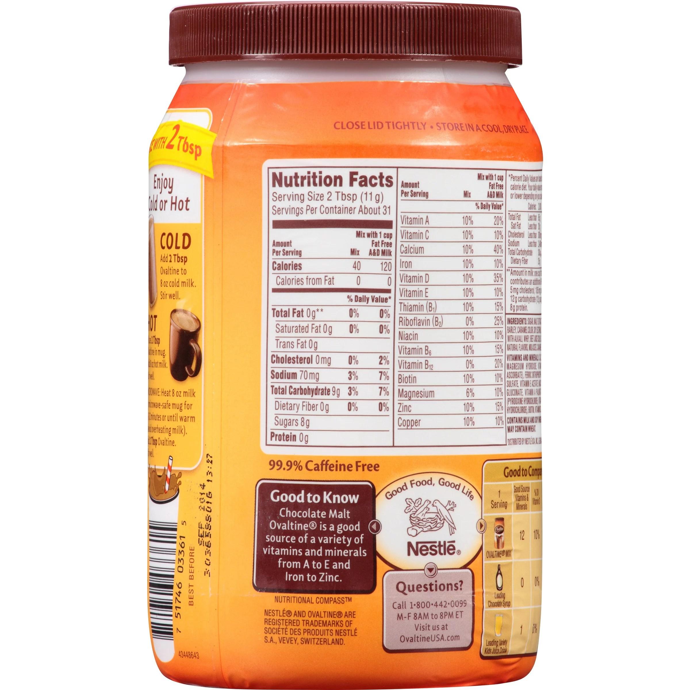 Ovaltine Nutritional Facts  Besto Blog