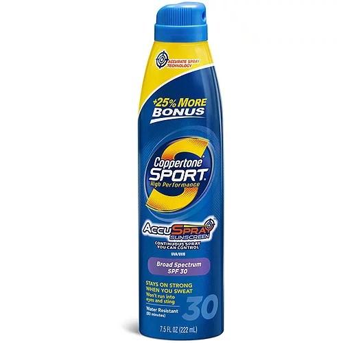 Coppertone Sport Sunscreen Spray SPF 30 7.5 FL OZ ...