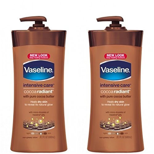 Vaseline Cocoa Butter Deep Conditioning Body Lotion with Cocoa Butter & Vitamin E – 20.3 oz