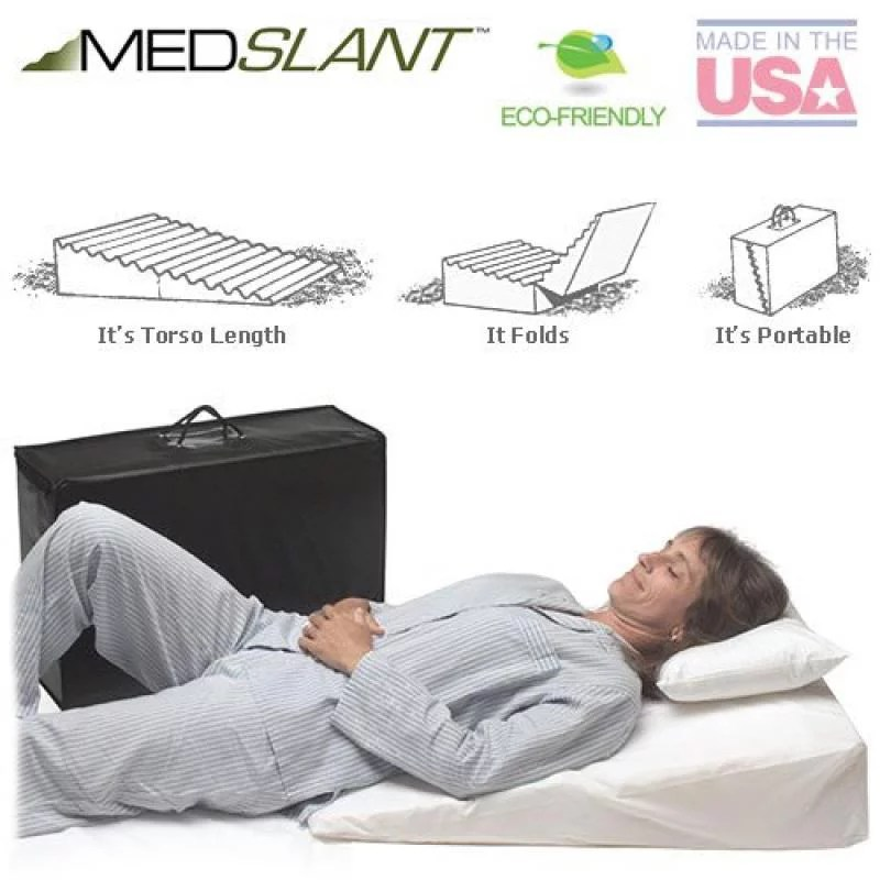 wedge pillow for acid reflux 32 x24 x7 folding pillow includes a zippered poly cotton folding cover fitted poly cotton cover and quality carry
