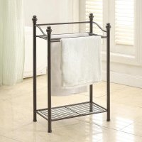 Neu Home Standing Towel Rack with Shelf - Walmart.com