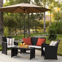 choice products 4-piece rattan