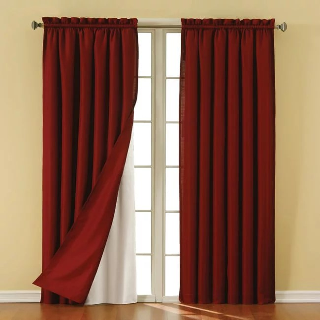 eclipse blackout thermaliner curtain panels set of 2