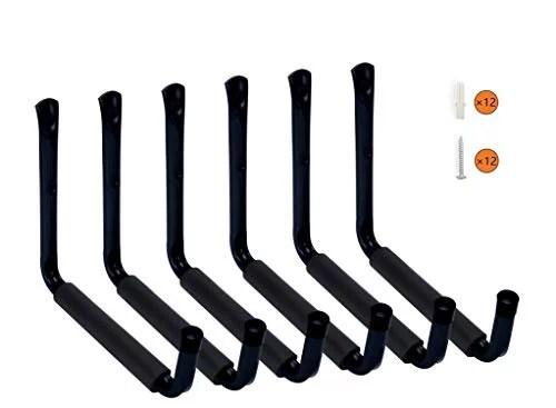 Hausun Heavy Duty 9 Arm Large Indoor Outdoor Storage Hooks Hangers With Eva Protector Wall Mount Garage Hangers Organizer For Ladders Tools Bikes Jeep Door Hanger 6 Pack Walmart Canada