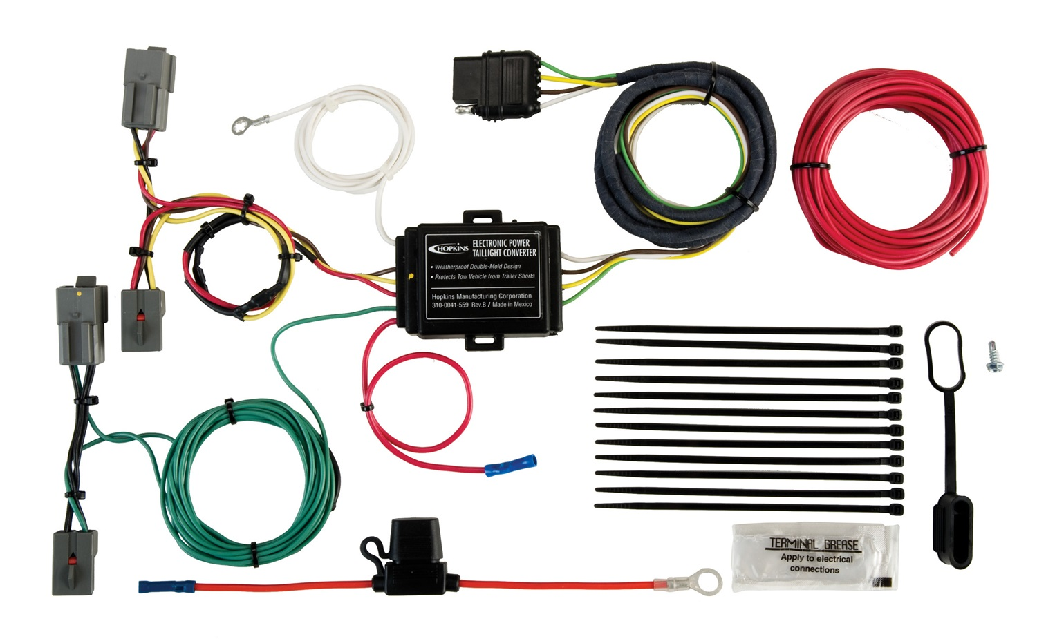 hight resolution of hopkins towing solution 11140504 plug in simple vehicle to trailer wiring harness incl short proof power converter walmart com