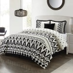 Nanshing Sarah 5 Piece Reversible Microfiber Comforter Set With Bonus Pillows Black White King Walmart Com Walmart Com