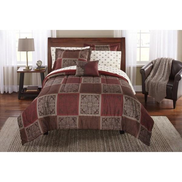 Mainstays Bedding Comforter Set Bed in a Bag Tiles