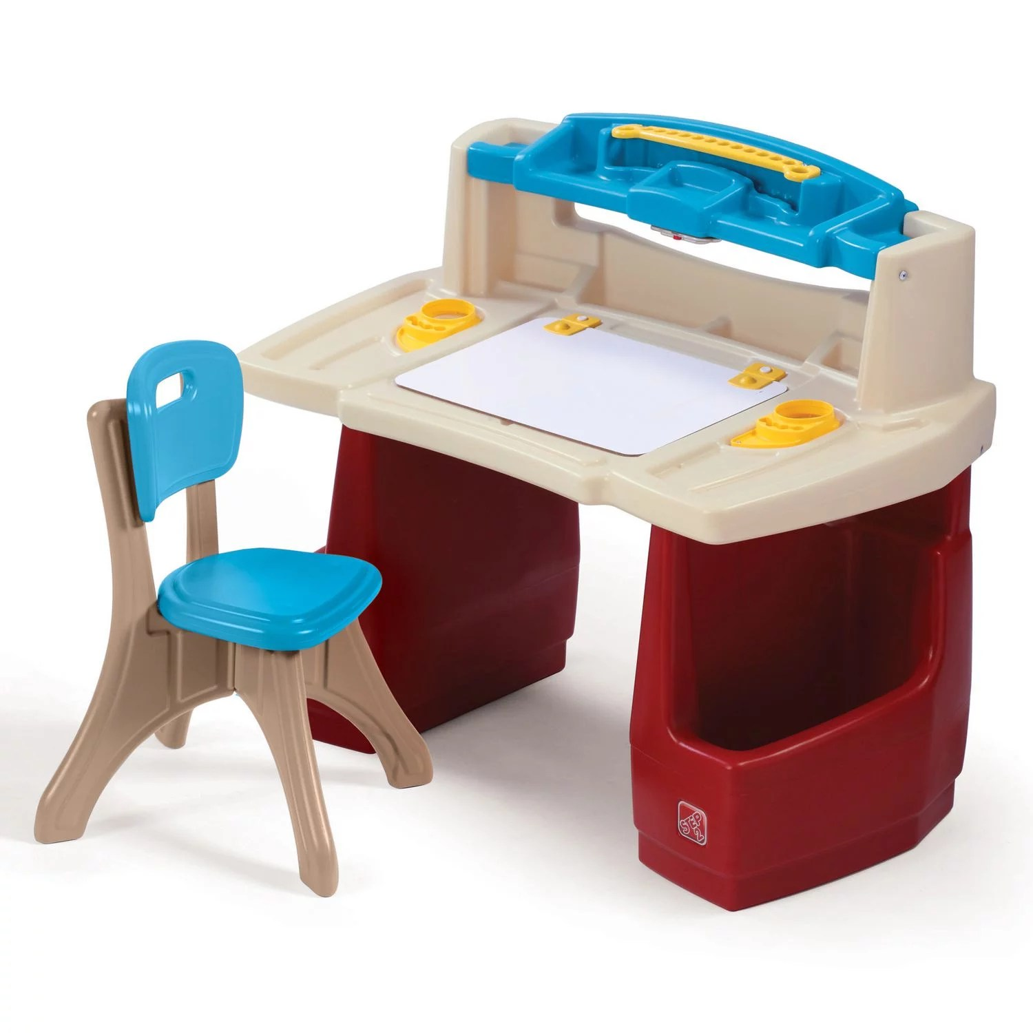 Step2 Deluxe Art Master Desk Kids Art Table with Storage