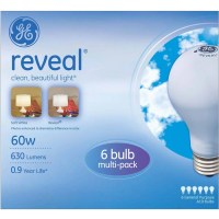 GE Reveal Incandescent 60W A19 Light Bulbs, 12 pk of 6 ...
