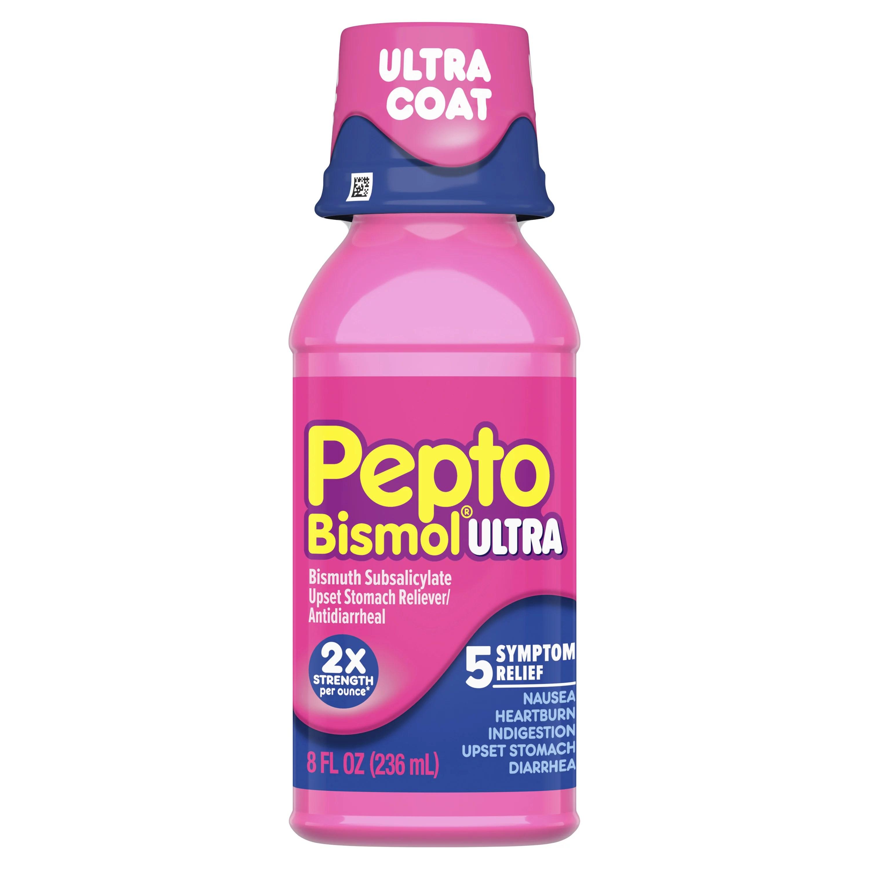 Pepto Bismol Liquid Ultra for Nausea Heartburn ...
