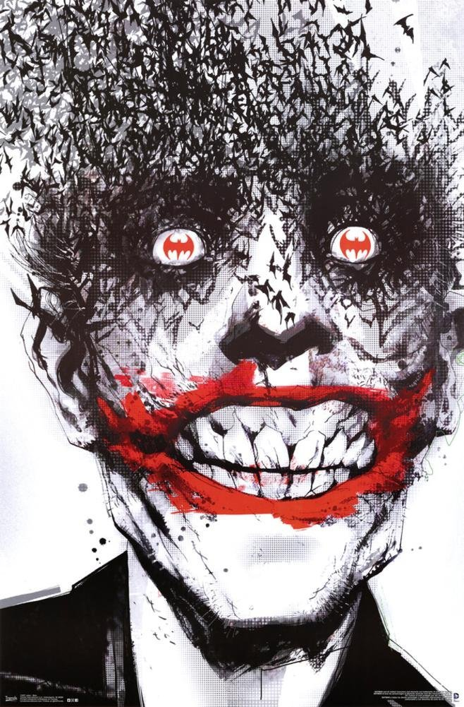 joker bats 24x36 poster