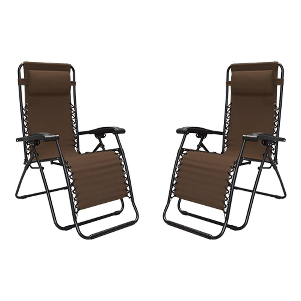 xl zero gravity chair with canopy footrest design ebay chairs walmart com product image caravan portable adjustable infinity brown 2 pack