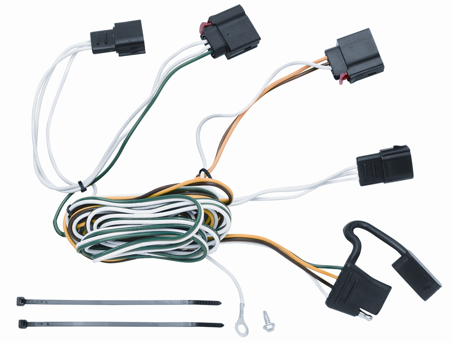 hight resolution of vehicle to trailer wiring harness connector for 07 12 jeep grand cherokee walmart com