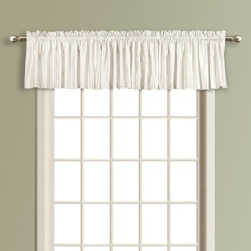Luxury Collection Anna Solid Color Faux Silk Lined Straight Valance