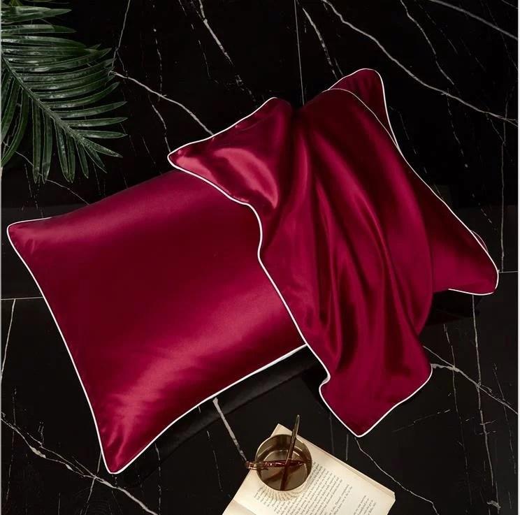 silk satin pillowcase single sided silky satin hair beauty pillow case luxury cushion cover for bed throw comfortable 48x74cm