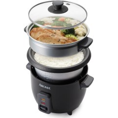 Steamer Kitchen Elkay Sinks Undermount Aroma 6 Cup Rice Cooker And Food Black Walmart Com