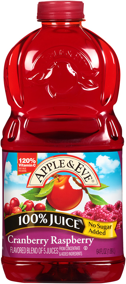Apple Eve 100 Juice Cranberry Raspberry 64 Fl Oz
