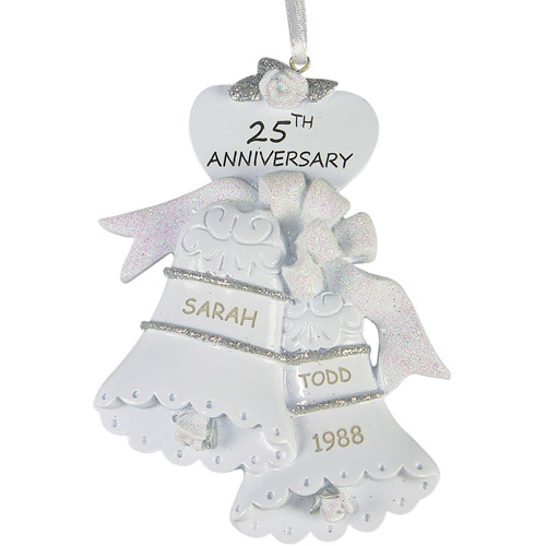 personalized 25th anniversary christmas