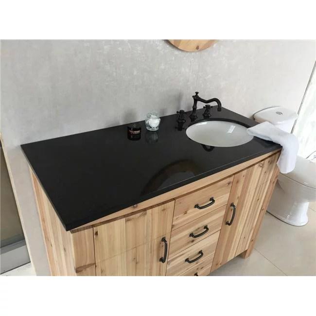 48 in single right side sink vanity solid fir galaxy natural black walmart com
