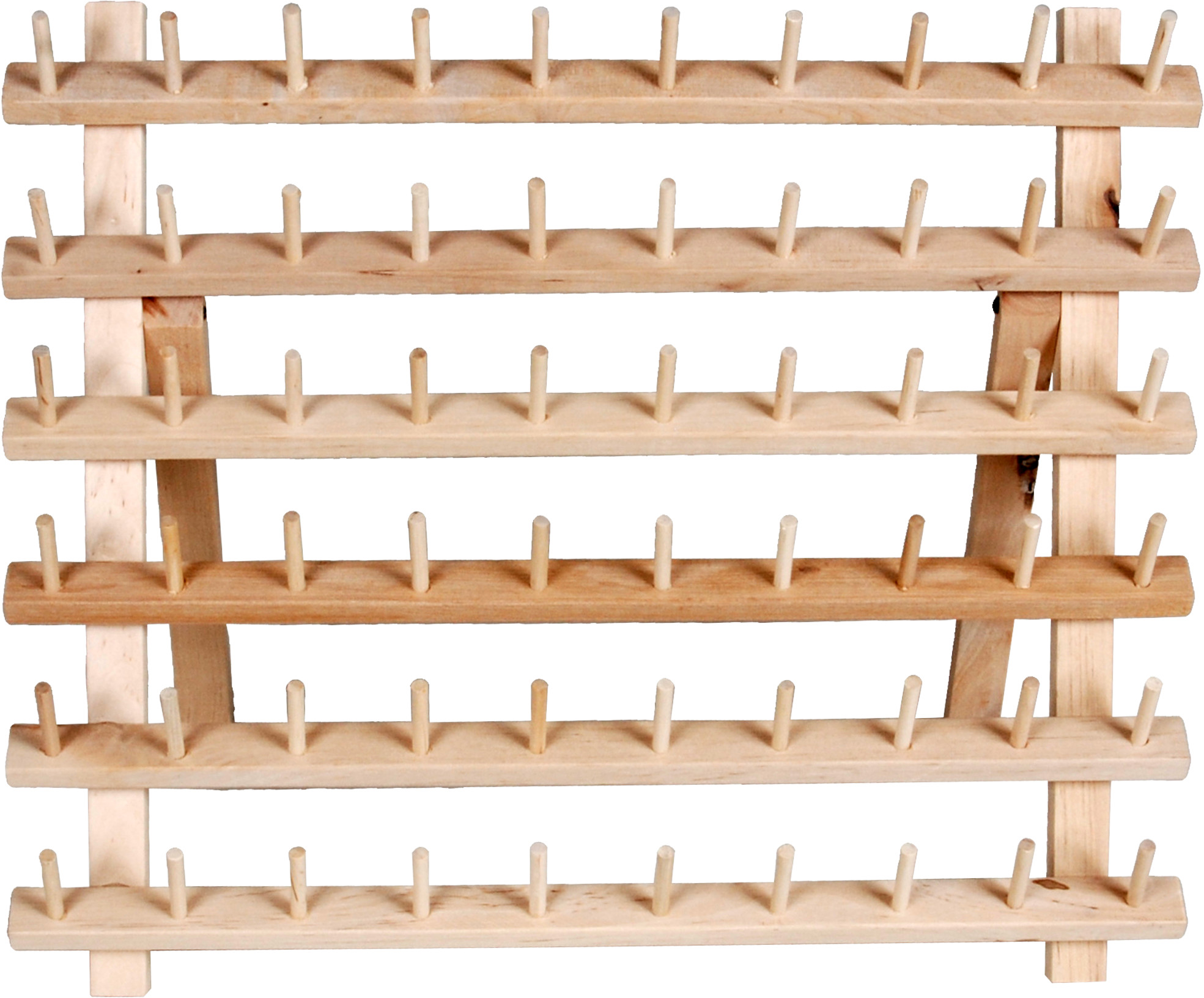 dritz wooden thread rack for organization 60 spools craft and sewing