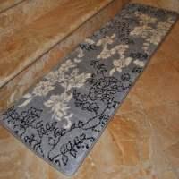 Fashion Street Extra-Long Floral Memory Foam Bath Rug, 1'8 ...