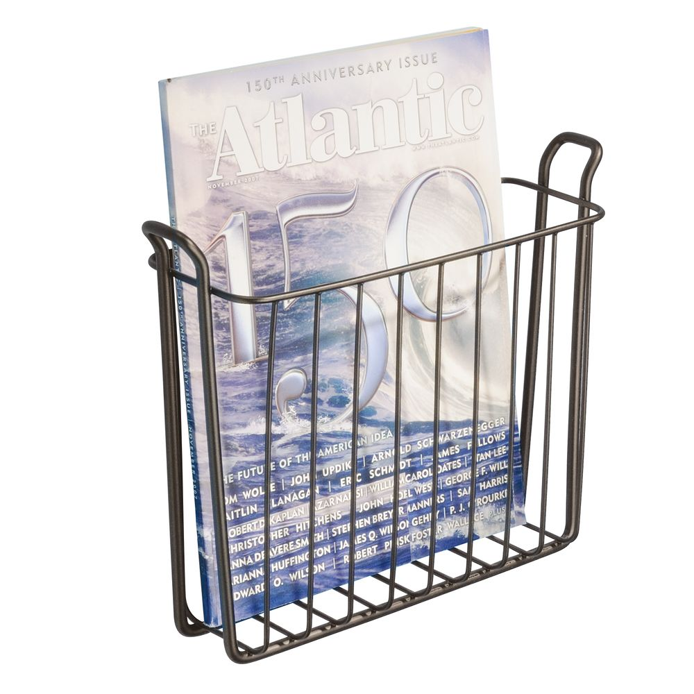interdesign classico wall mount magazine holder bronze
