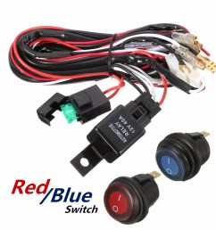 40 amp off road atv led light bar on off switch wiring harness relay kit walmart com [ 1200 x 1200 Pixel ]