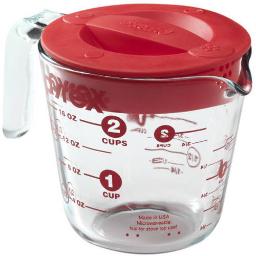 Pyrex 2Cup Measuring Cup with Red Lid Walmartcom