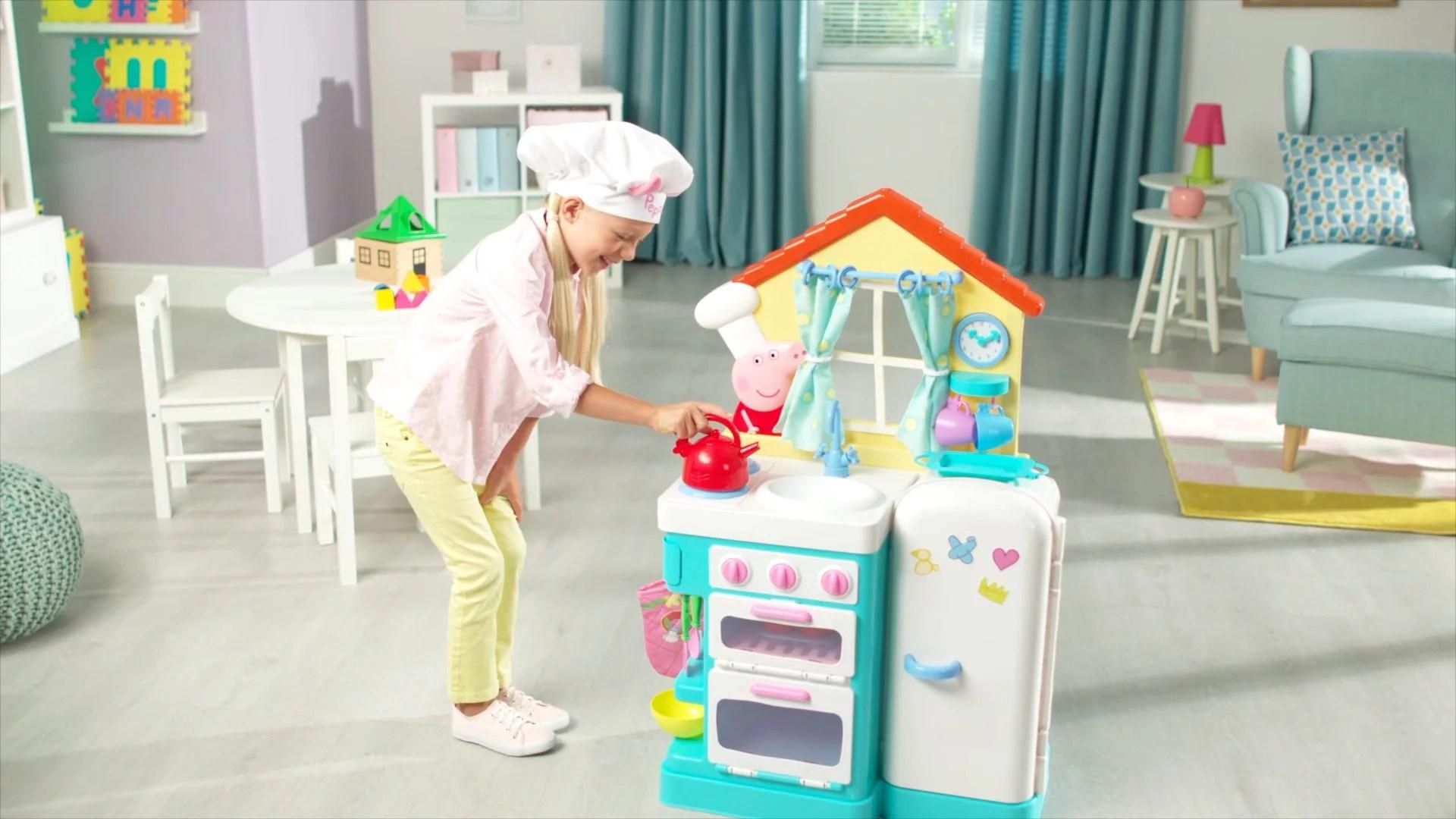 pig kitchen counters and backsplash peppa s little with bonus apron walmart com