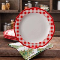 """The Pioneer Woman Charming Check 10.75"""" Dinner Plates, Set ..."""