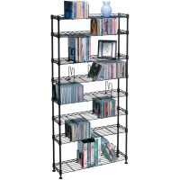 Atlantic 8-Shelf CD/DVD Rack Multimedia Storage Unit ...