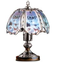 Howling Wolf Tabletop Glass Touch Lamp - Walmart.com