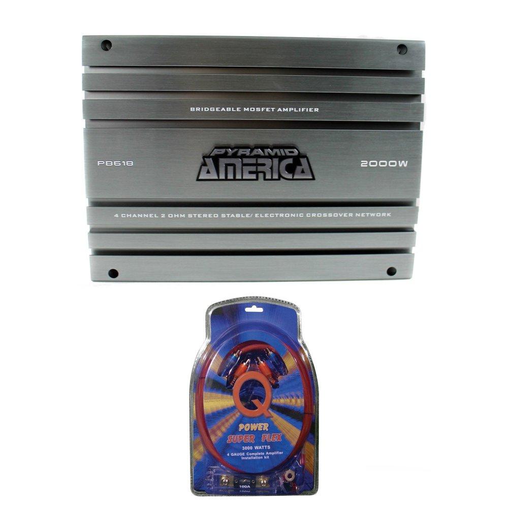 medium resolution of pyramid 2000 watt 4 channel mosfet amplifier 4 gauge amplifier wiring kit walmart com