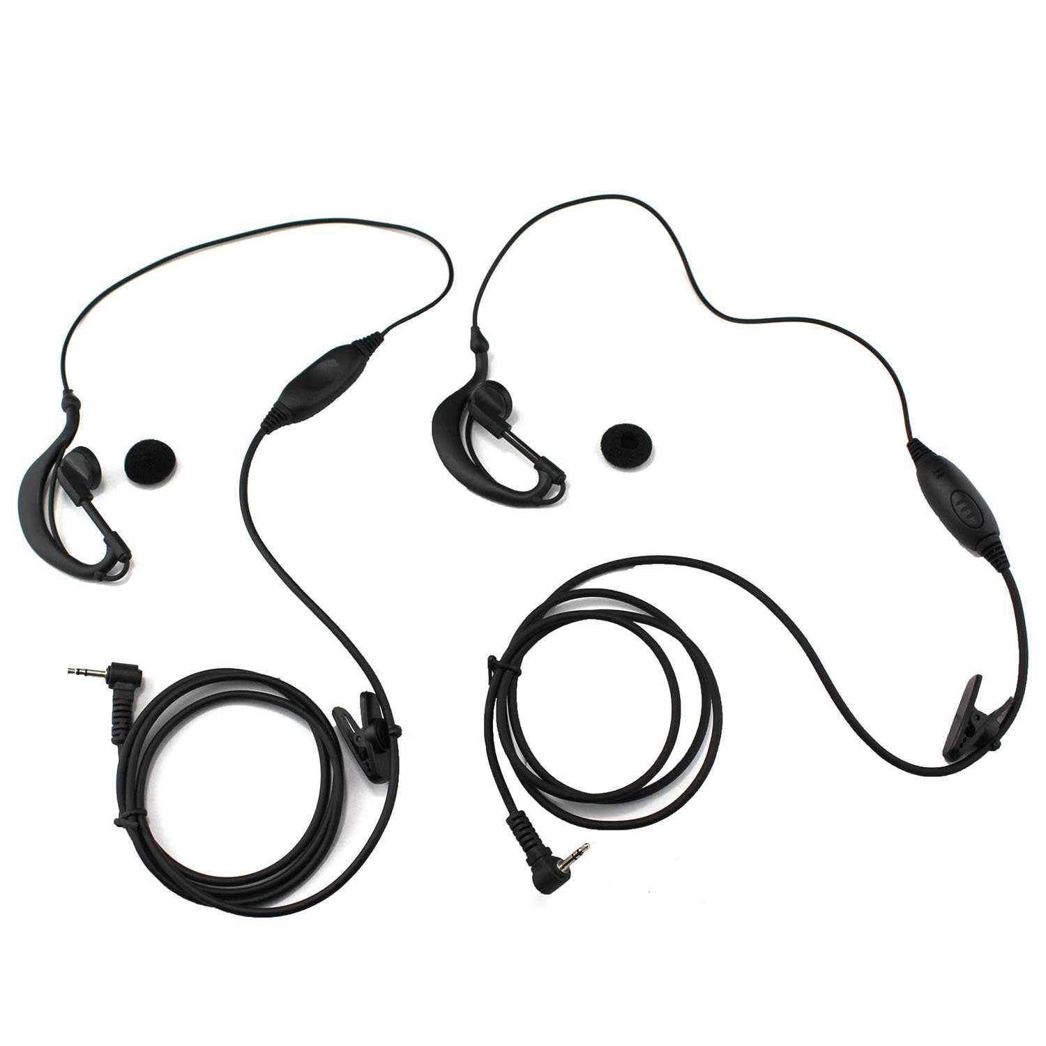 GoodQbuy G Shape Clip_Ear Headset_Earpiece Mic for
