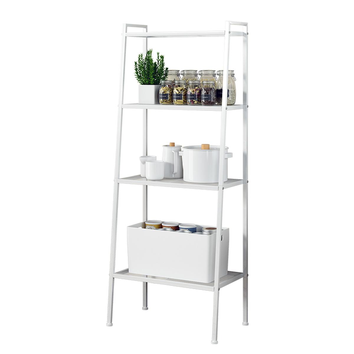 novashion 4 tier storage shelf metal ladder shelves portable display rack plant flower stand rack storage for bathroom living room walmart com
