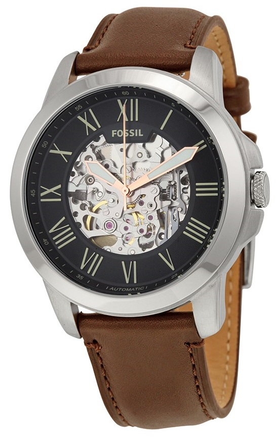 Fossil - Fossil Men's Grant Automatic Leather Watch ME3100 - Walmart.com - Walmart.com