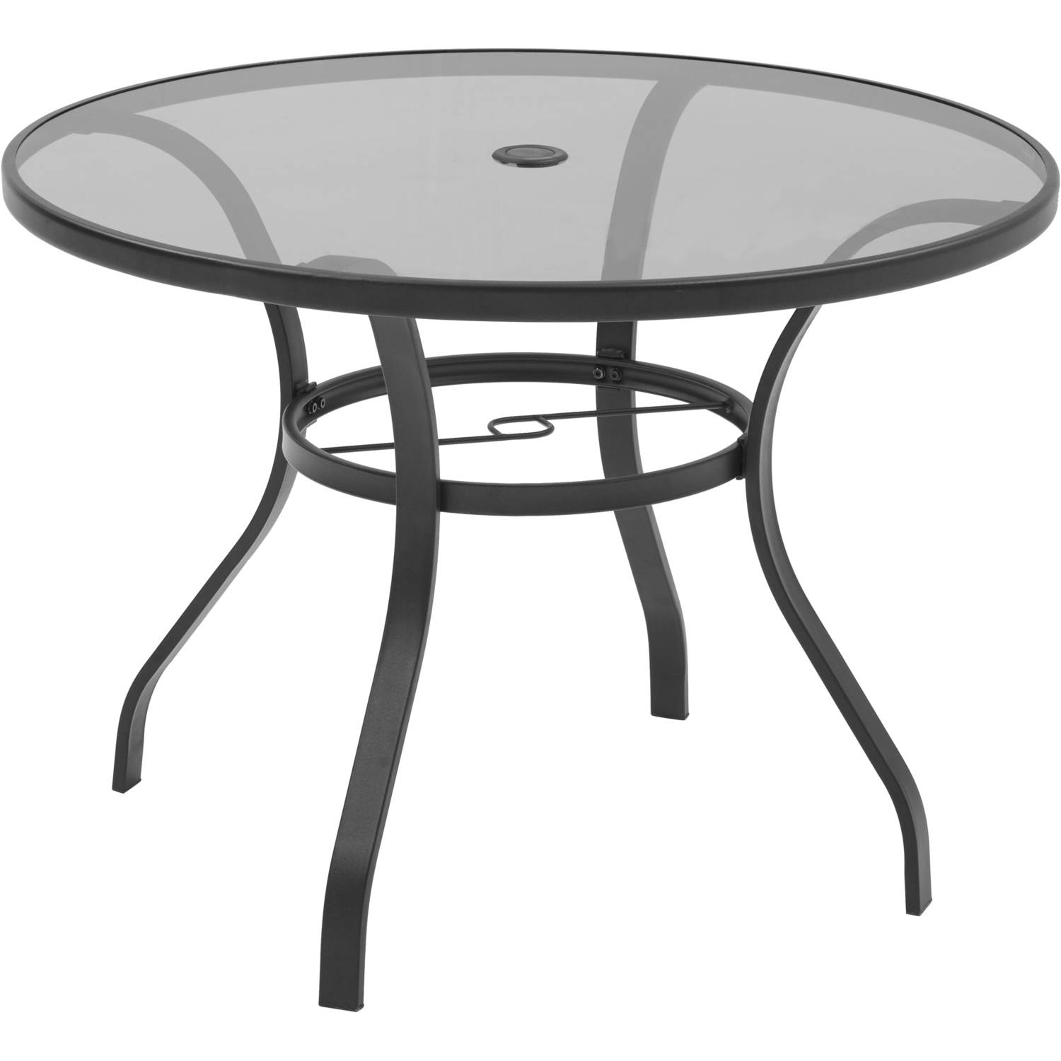 mainstays heritage park 40 round dining table brown