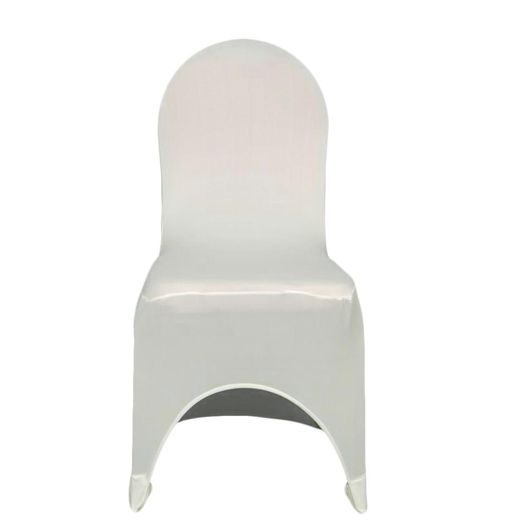 metal chair covers burlap dining chairs universal 100pcs white spandex lycra plastic departments