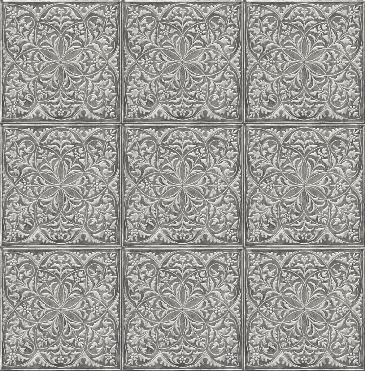 nextwall faux embossed tile peel and stick wallpaper