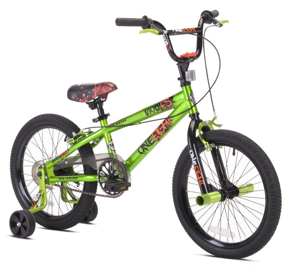 medium resolution of avigo 18 one eight bmx boy s bike green for height sizes 3 8 and up walmart com