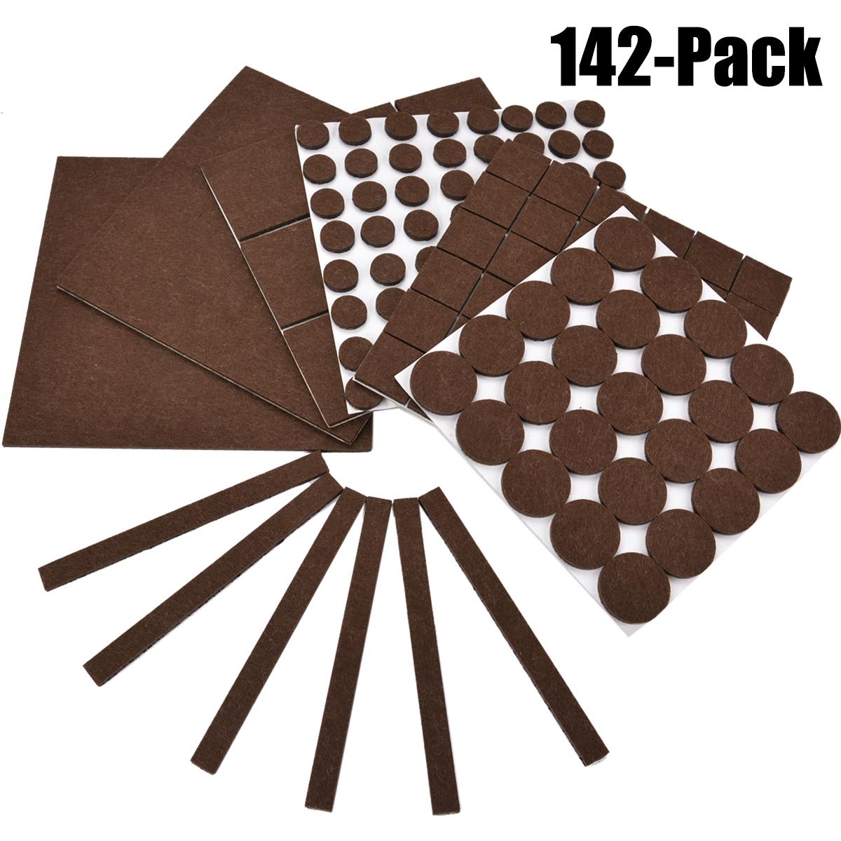 pads for chair legs wheelchair parts 142pcs furniture outgeek felt floor protectors assorted size table desk walmart com