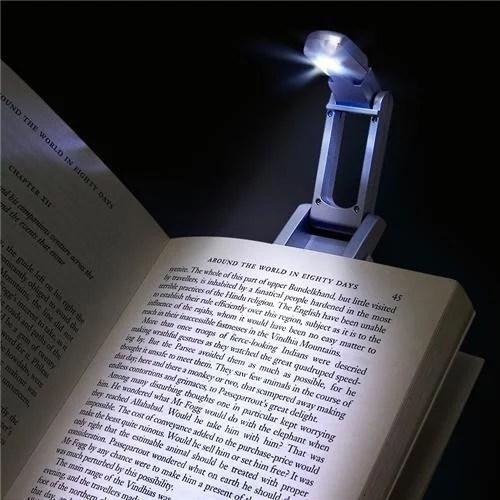 Insten Book Reading Light with Clip Silver  Walmartcom