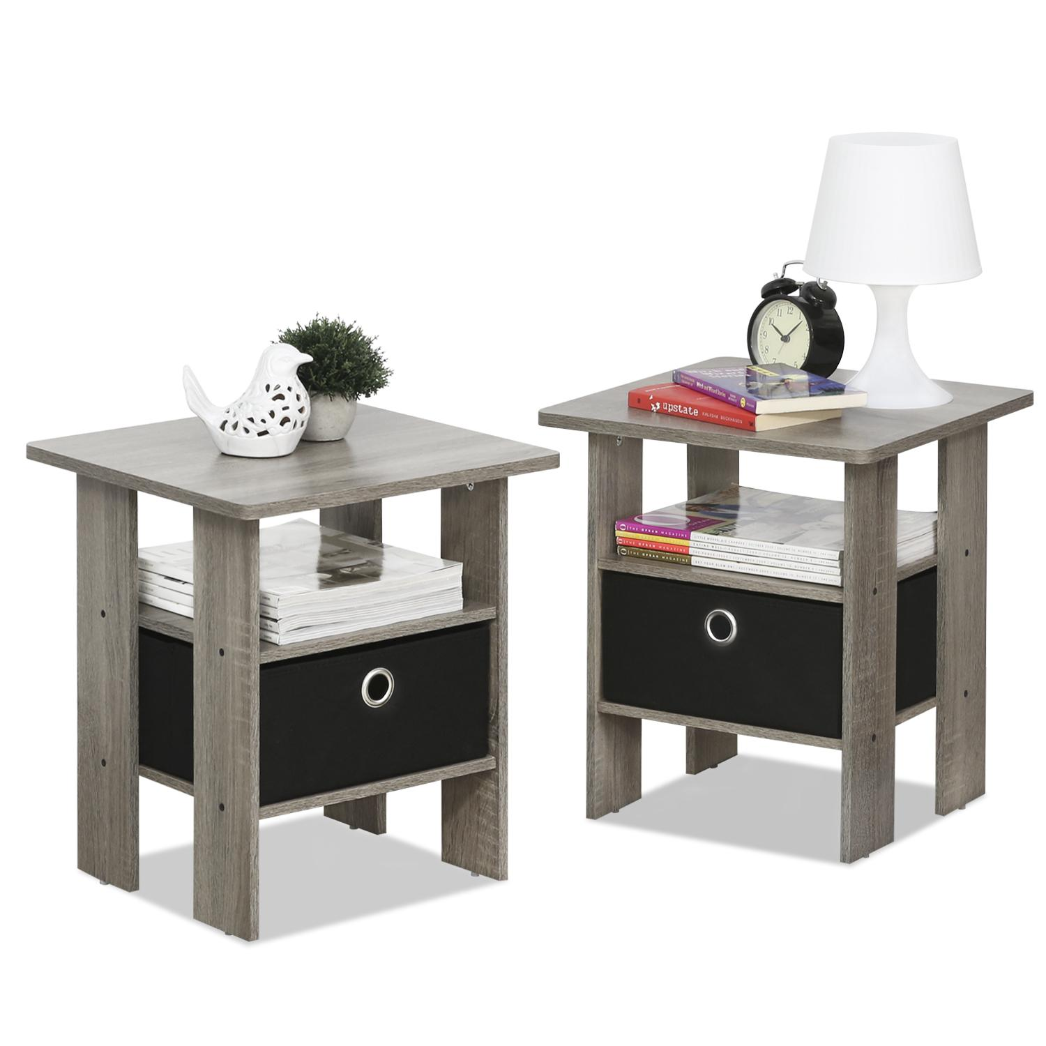 Furinno 2 11157gyw Petite End Table Bedroom Night Stand Set Of 2 Walmart Canada