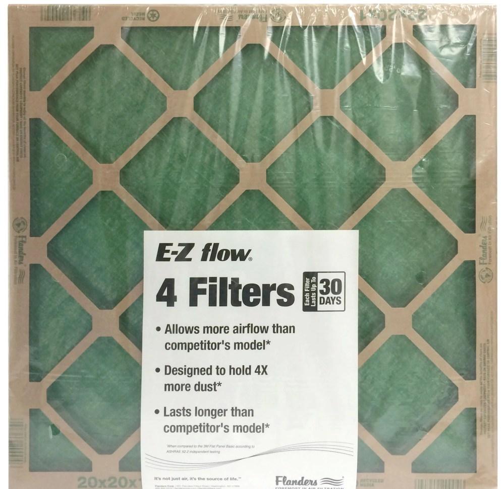 medium resolution of flanders 20 x 25 x 1 precisionaire nested glass air filter walmart com